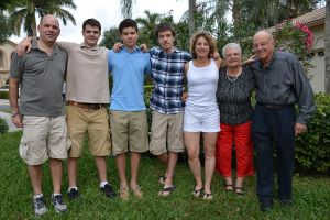 Mom, Dad with us in Florida