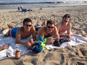 Jordan, Josh and Dana at Matunuck Beach in RI