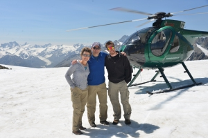 A helicopter ride to the top of Franz Josef  and Fox Glacier