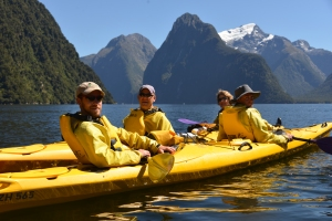 A kayak trip in Milford Sound in Fjordland