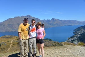 After a climb up Queenstown Hill on the South Island