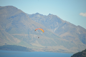 a hang glider in Queenstown (not me, but next time....)