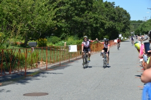 Riding to finish line at Provincetown