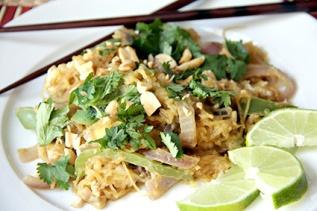 Asian peanut pad thai