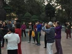 Laughing yoga in Hanoi