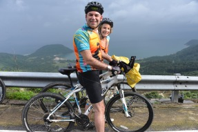 Jeff and I on the way down from the mountain pass in Hoi An, midway down the coast of Vietnam