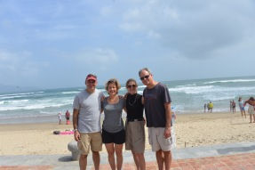 Jeff, me, sister-in-law Sandy and brother Andy at China Beach
